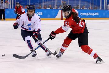 Olympics: Ice Hockey-Women Team Semifinal KOR v SUI