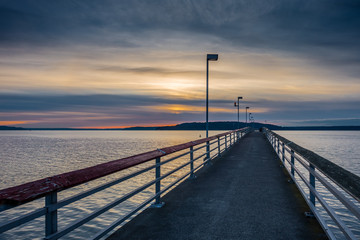 Pier And Cloudy Sunset 2