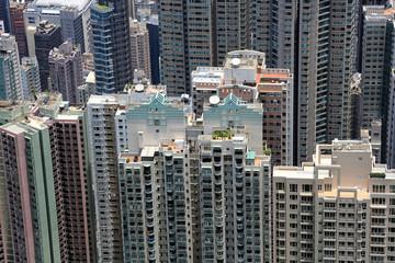 Hong Kong: Wohntürme unterhalb des Victoria Peak