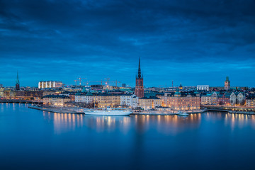 Twilight view of Stockholm, Sweden, Scandinavia