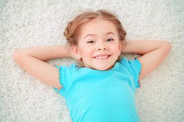 laughing cute girl