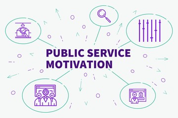 Business illustration showing the concept of public service motivation