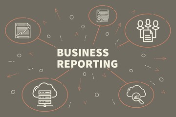 Business illustration showing the concept of business reporting