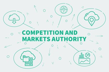 Business illustration showing the concept of competition and markets authority