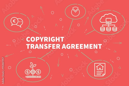 Business Illustration Showing The Concept Of Copyright Transfer