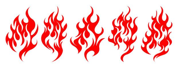 Set of vector fire design elements