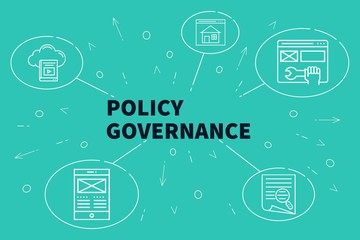 Business illustration showing the concept of policy governance
