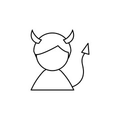 Devil man line icon