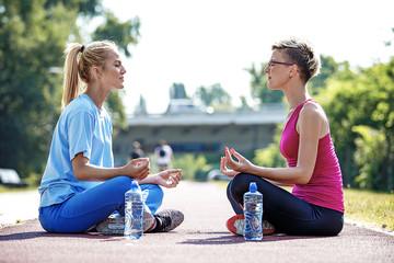 Women enjoying meditation
