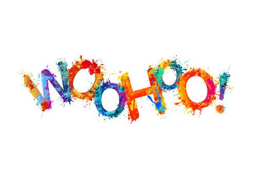 Word Woohoo! Splash paint letters