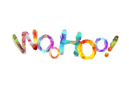 Word Woohoo! Triangular colorful letters