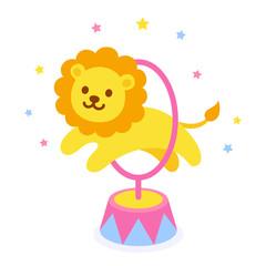 Circus lion illustration