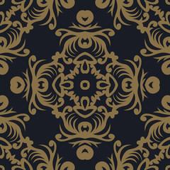 Seamless pattern oriental ornament. Textile print. Islamic vector design. Floral tiles.