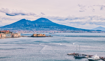Fotobehang Napels Winter Regatta in Naples, February 2018