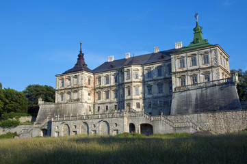 View to the old castle in sunny day