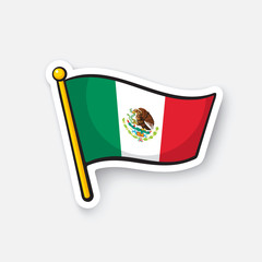 Sticker national flag of Mexico