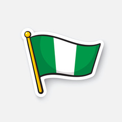 Sticker national flag of Nigeria