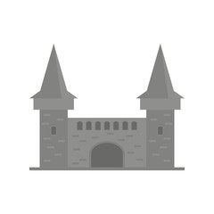 Cartoon fairy tale castle tower icon. fairytale medieval castle.Vector illustration.