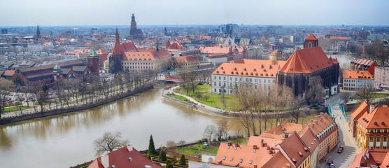 Wroclaw, Panorama, Wyspa Piasek