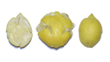 crushed fruit: lemon in bad condition