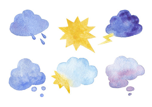 Symbols of weather conditions