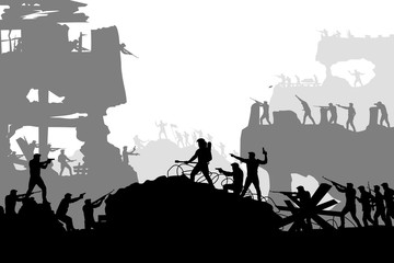 war battle silhouette