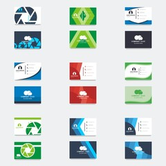Set collection business card template