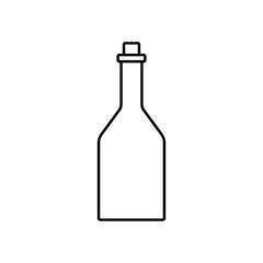 wine bottle line black icon