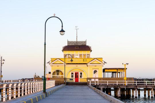 St Kilda Pier at sunrise in Melbourne