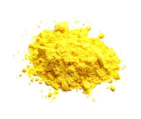 Colorful powder for Holi festival on white background