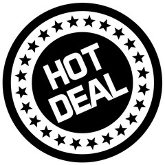Hot Deal typographic stamp. Typographic sign, badge or logo.