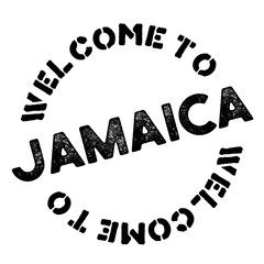 Jamaica	 typographic stamp. Typographic sign, badge or logo