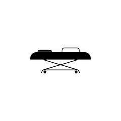 hospital gurney icon. Element of medicine icon. Premium quality graphic design. Signs, outline symbols collection icon for websites, web design, mobile app