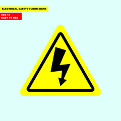 Danger high voltage, electric hazard sign in vector style version, easy to use and print