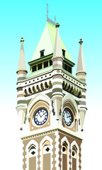 Otago University Clocktower - Dunedin