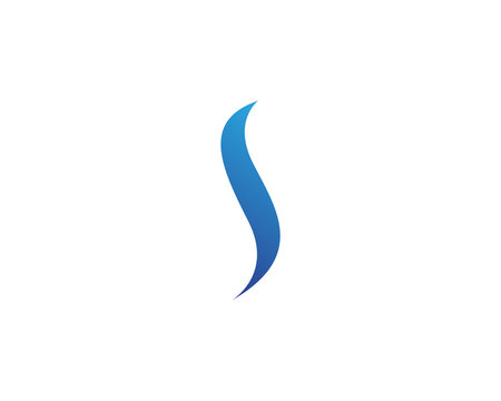 S blue logo and symbols template vector