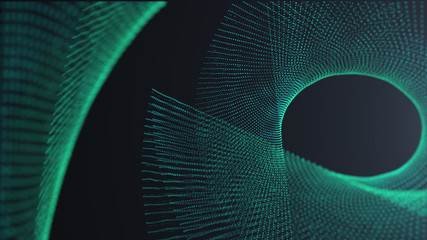Green Spin Futuristic digital background,Abstract background for Science and technology