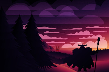 Viking Warrior Twilight