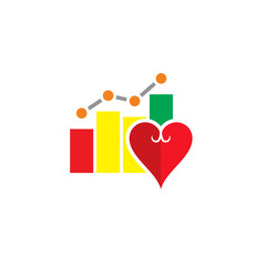Love Stat Logo Icon Design