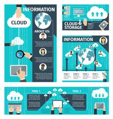 Vector infographic cloud technologies