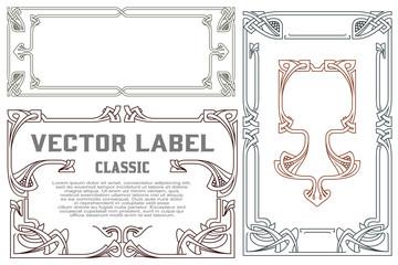 Vector vintage labels on different versions.