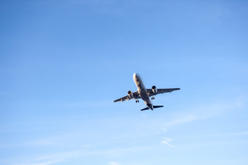 flying over plane