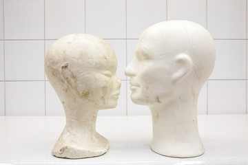 two isomo heads in the mortuary