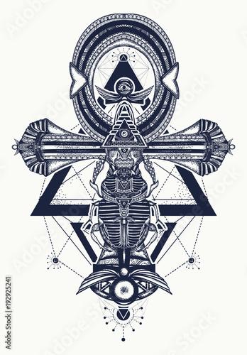 Ankh symbol of eternal life tattoo, key to immortality  Ankh