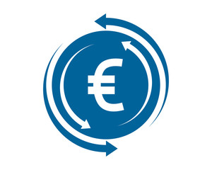 circle euro currency financial money price economy image vector icon logo symbol