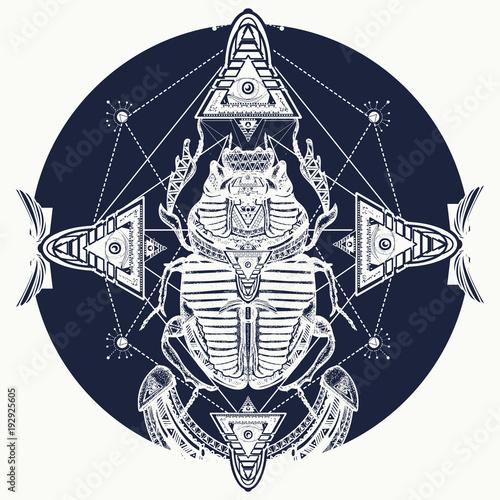 Egyptian Scarab Symbol Of Pharaoh Gods Ra Sun T Shirt Design