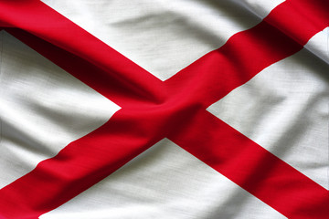 Fabric texture of the Alabama Flag - Flags from the USA
