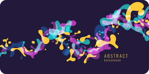 Bright abstract background with explosion of colored splashes. Vector illustration