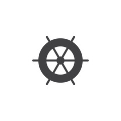 Ship steering wheel vector icon. filled flat sign for mobile concept and web design. Ship helm simple solid icon. Symbol, logo illustration. Pixel perfect vector graphics