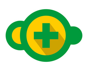 green yellow medicare medical cloud symbol image vector